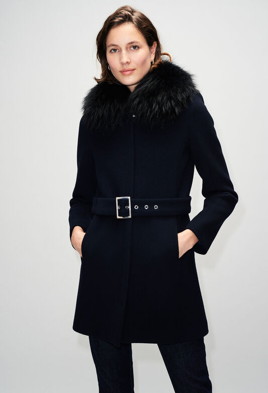 GILLESH19 : Coats & Jackets color NAVY