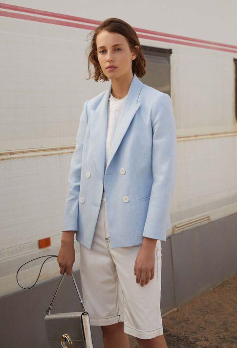 VAGABONDE : Coats & Jackets couleur Ciel