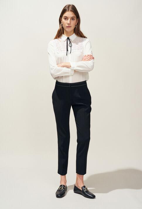 POUSSINA : Pantalons et Jeans couleur Noir
