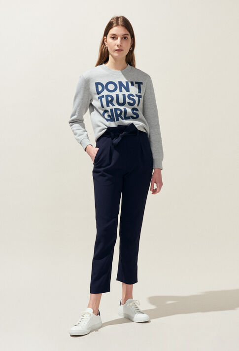 TRUST : Maille & Sweatshirts couleur GRIS CHINE