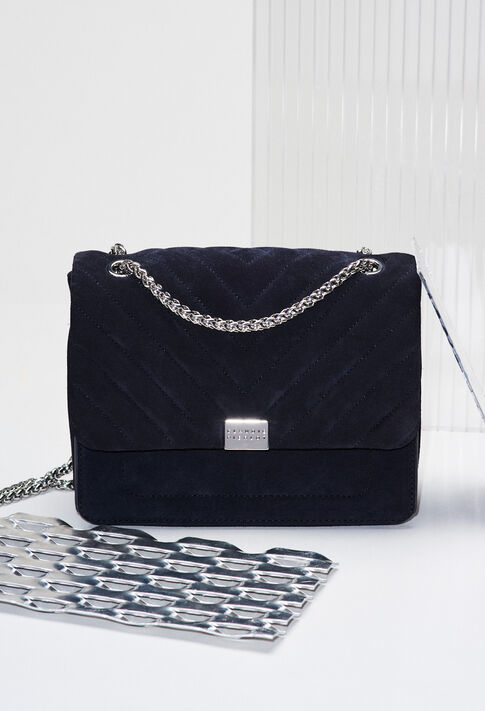 ANGELAQUILTSUEDEH19 : Bags & Leather Goods color Navy