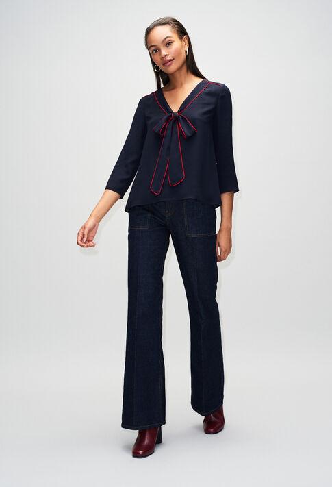 BELINAH19 : Tops & Shirts color NAVY
