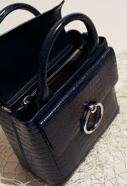 ANOUCK SMALL REPTILE CROCO : Bags & Leather Goods color MARINE