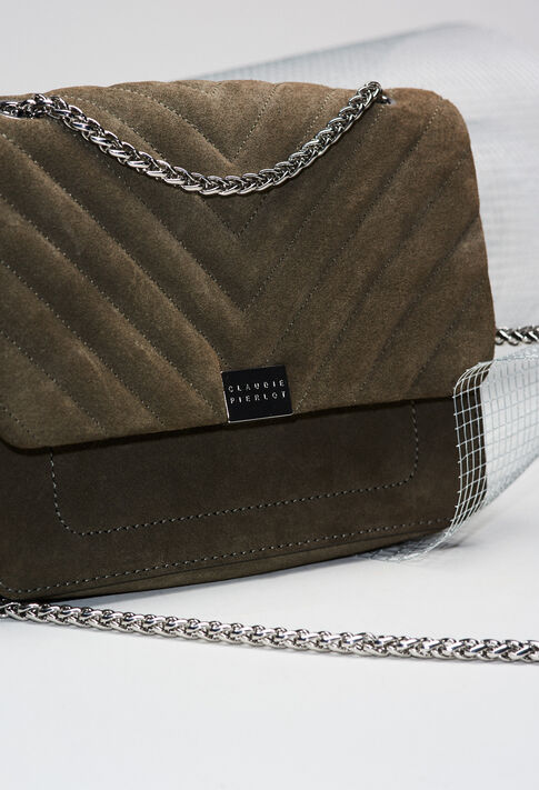 ANGELAQUILTSUEDEH19 : Bags & Leather Goods color KHAKI