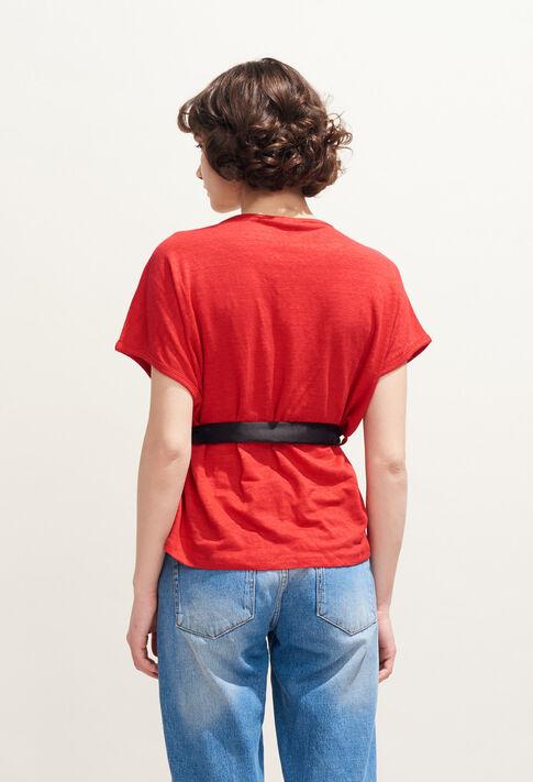 TELLINE : T-shirts color ECARLATE