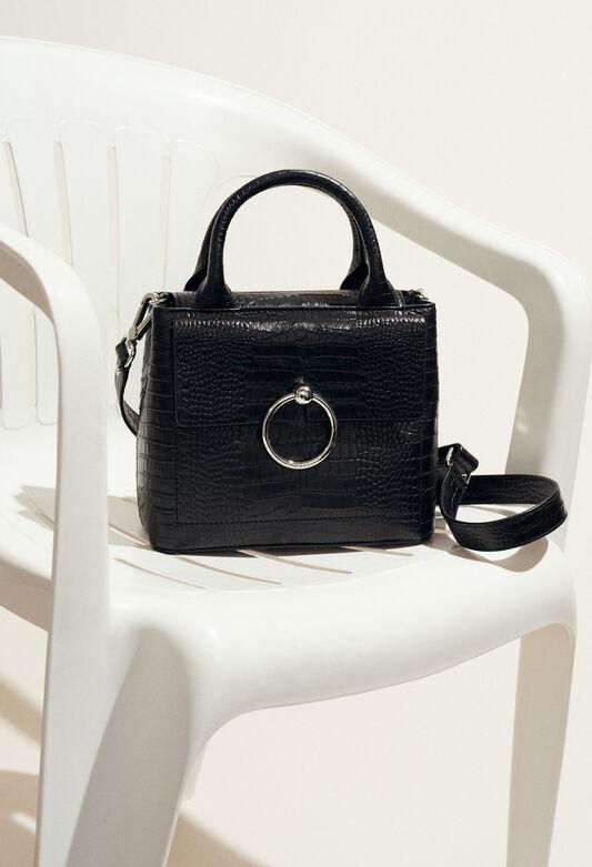 ANOUCK SMALL REPTILE CROCO : Shoes & Accessories color Black