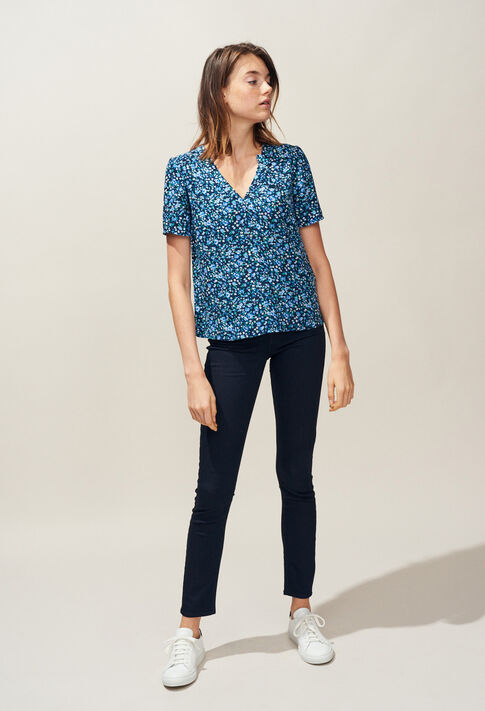 BOWLING : Tops & chemises couleur Marine