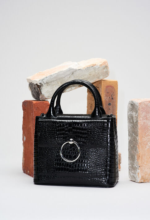 ANOUCKSMALLREPTILECROCOH19 : Bags & Leather Goods color BLACK