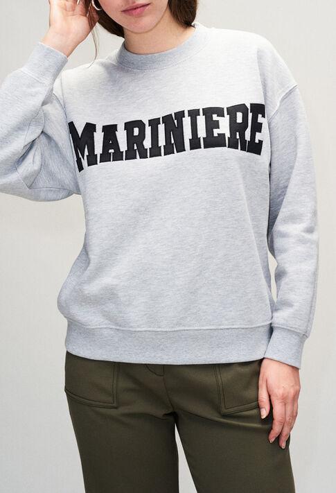 TYPOH19 : Maille & Sweatshirts couleur GRIS CHINE CLAIR