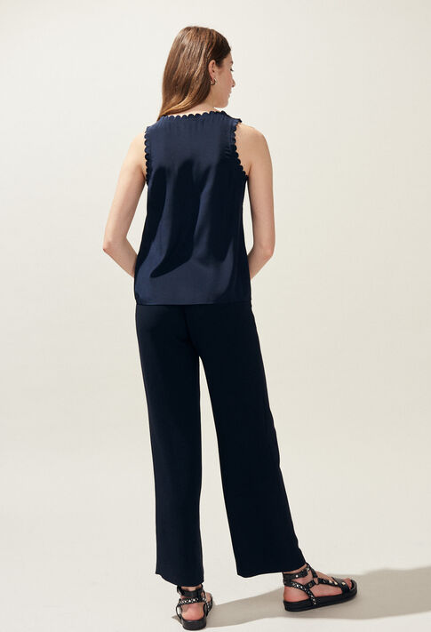 POURPRE : Jeans & Pants color Navy