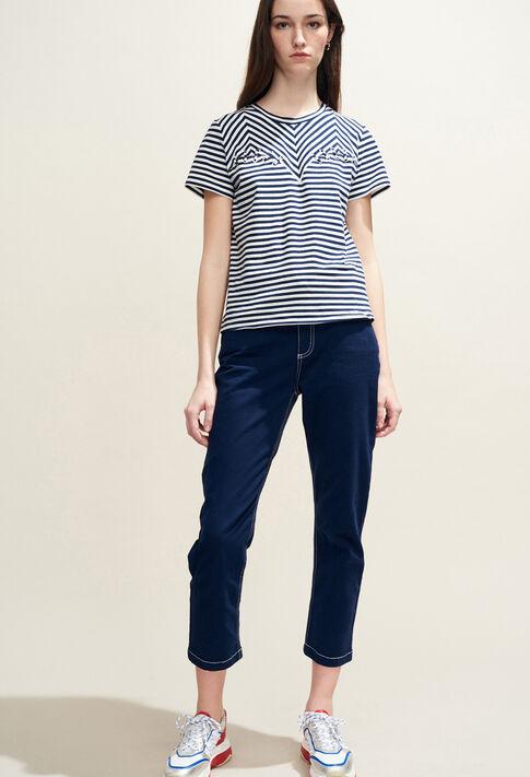 TOSCANE : T-shirts couleur Marine