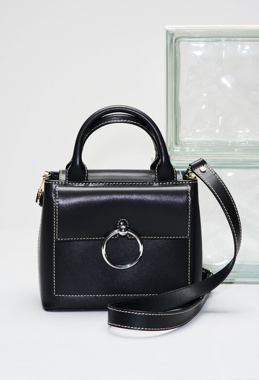 ANOUCKSMALLSADDLESTITCHH19 : Bags & Leather Goods color BLACK