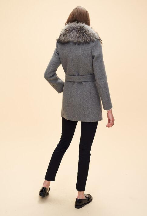 GILLES : Coats & Jackets color Mottled Grey