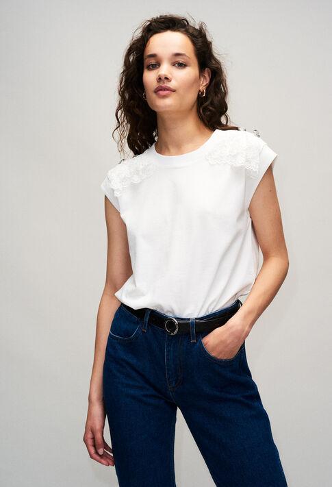 TISHAH19 : T-shirts color ECRU
