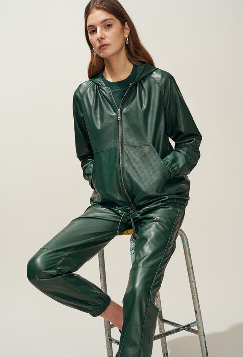 CHRISTEN : Coats & Jackets color VERT IMPERIAL