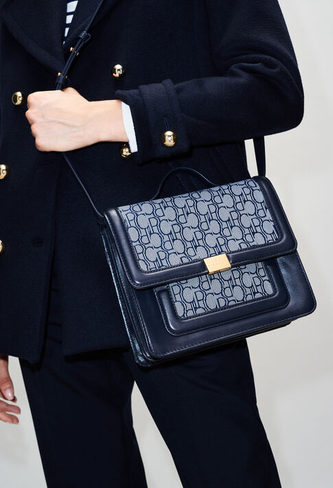 ANGELAMONOGRAMH19 : Bags & Leather Goods color NAVY