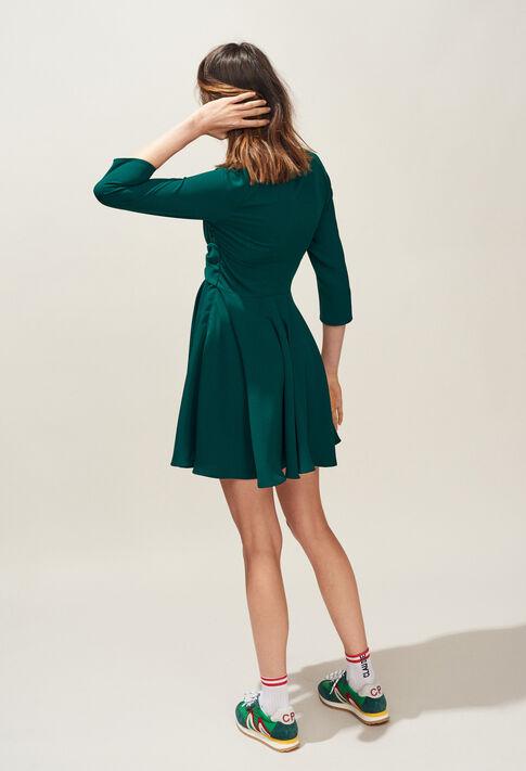 RAINA : Dresses color VERT IMPERIAL