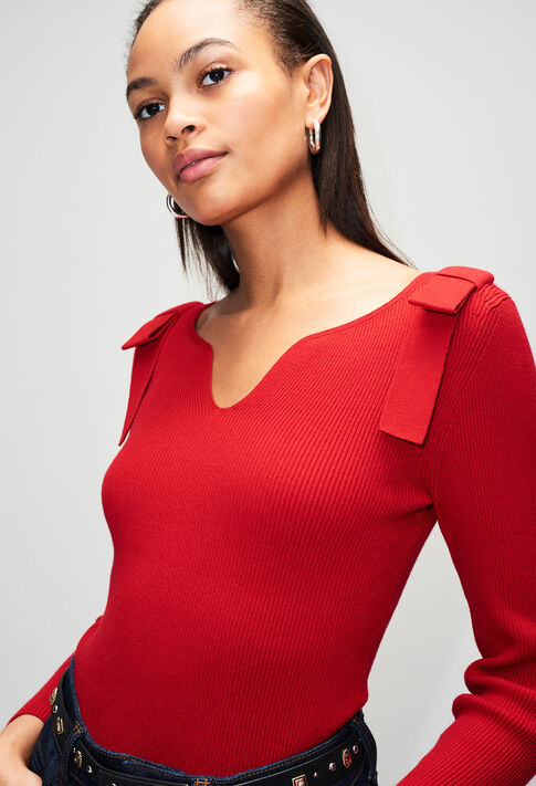 MYHEARTH19 : Knitwear & Cardigans color COQUELICOT