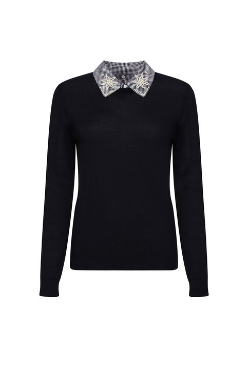 MIRACLE : Mailles & Sweatshirts couleur Marine