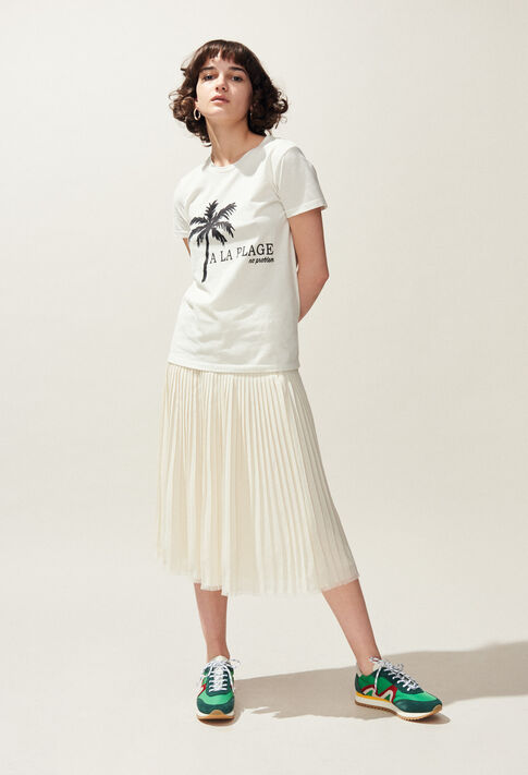 TOCHILL : T-Shirts couleur Ecru