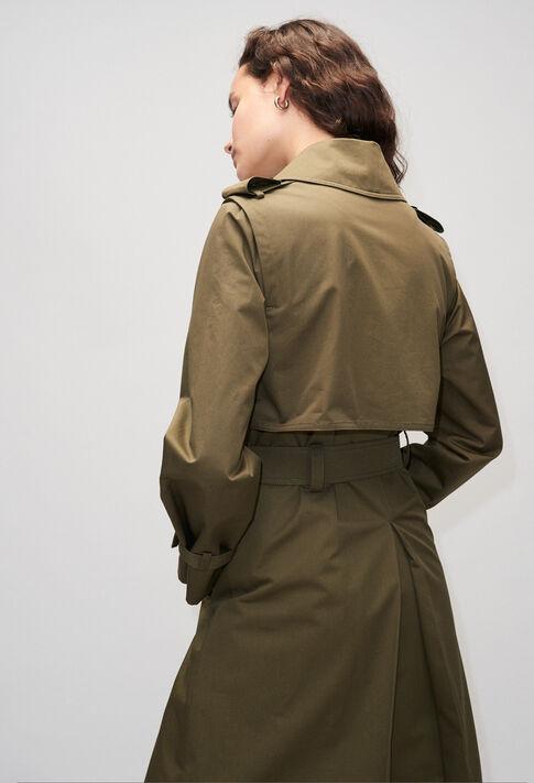 GHITAH19 : Coats & Jackets color KHAKI