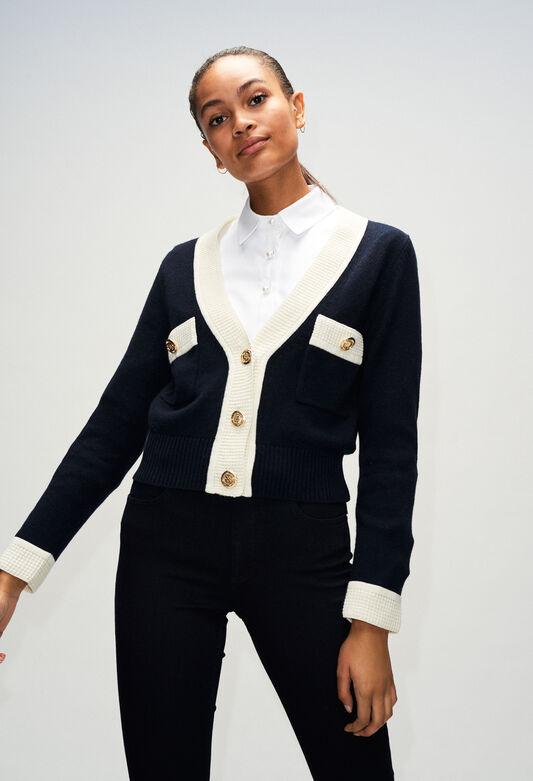 MINIH19 : Maille & Sweatshirts couleur MARINE