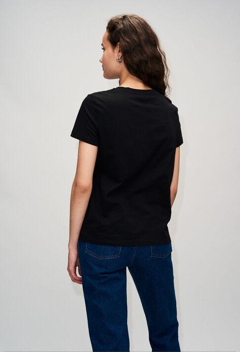 TESSIEH19 : T-shirts color BLACK