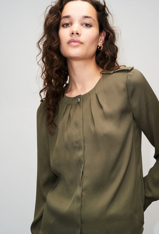 BINOH19 : Tops & Shirts color KHAKI