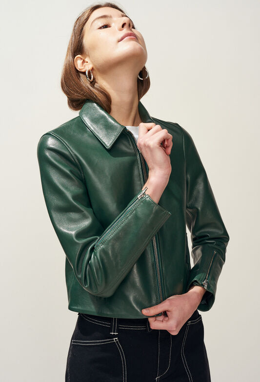 CAYCE : Coats & Jackets color VERT IMPERIAL