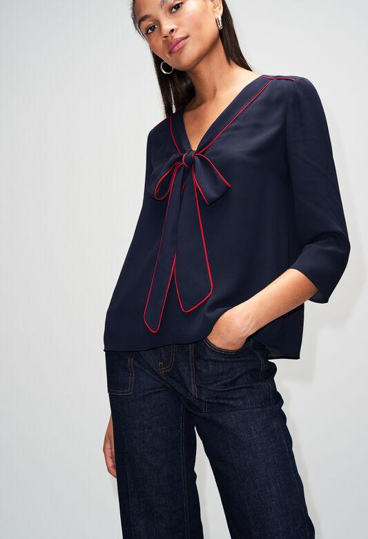 BELINAH19 : Tops et Chemises couleur MARINE