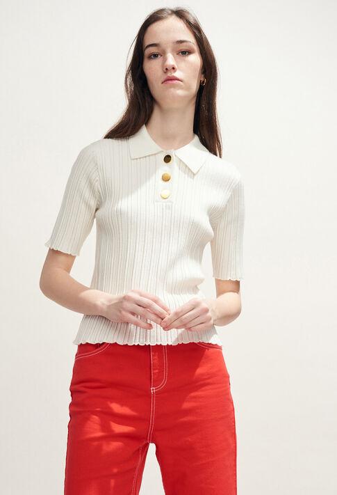 MARTIAL : Mailles & Sweatshirts couleur Ecru