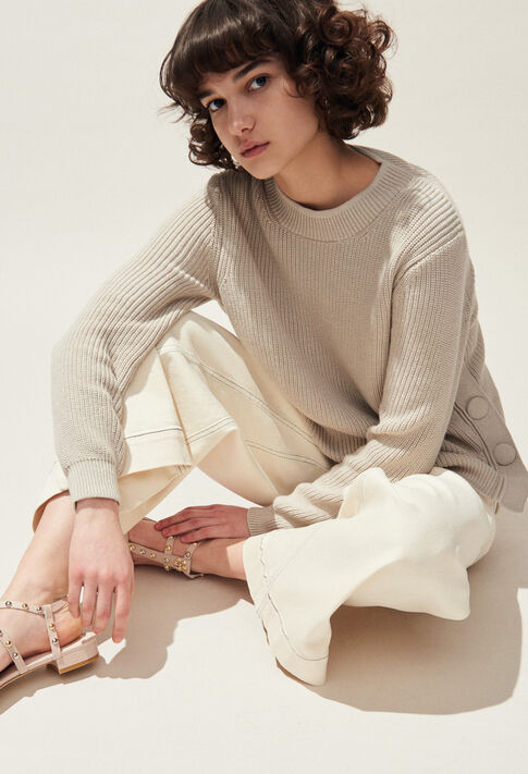 MABOUCLE : Maille & Sweatshirts couleur NATUREL