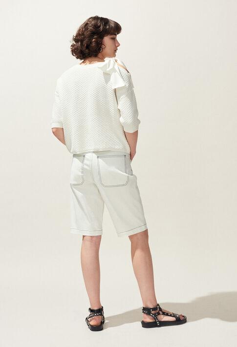 MAGDA : Maille & Sweatshirts couleur Ecru