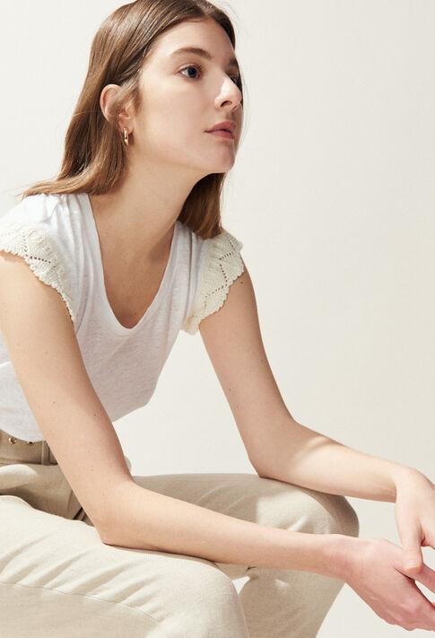 TOBY : T-Shirts couleur Ecru