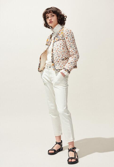 PECHE : Jeans & Pants color Ecru