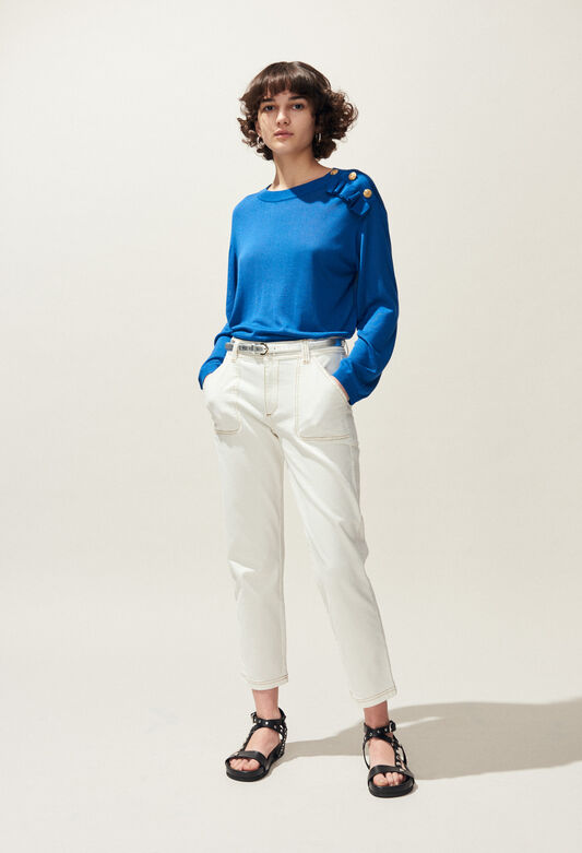MALIGNE : Knitwear & Cardigans color TRANSAT BLUE