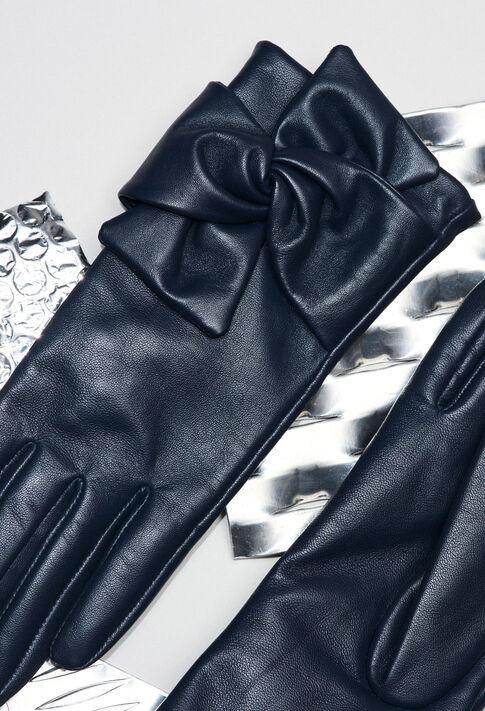 AMELIAH19 : Bonnets et gants couleur Marine