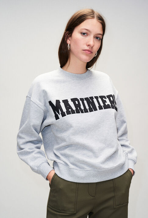 TYPOH19 : Maille & Sweatshirts couleur GRIS CHINE CLAIR