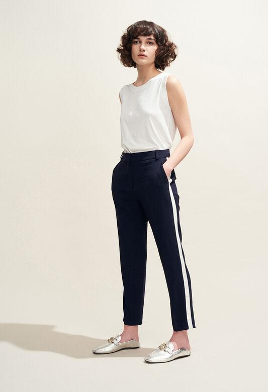 POP : Pantalons et Jeans couleur MARINE