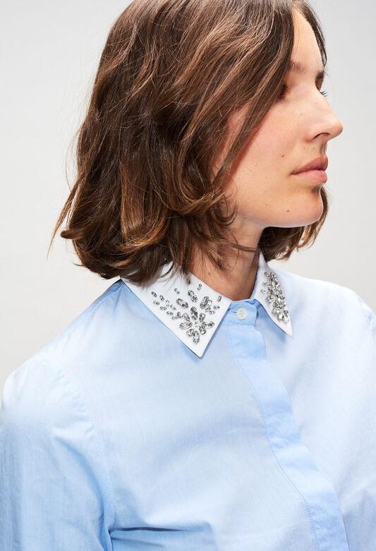 CAJOLINAH19 : Tops et Chemises couleur BLEUET