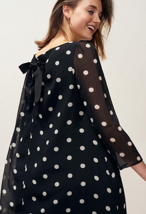 RIFIFI POIS : Robes couleur Noir
