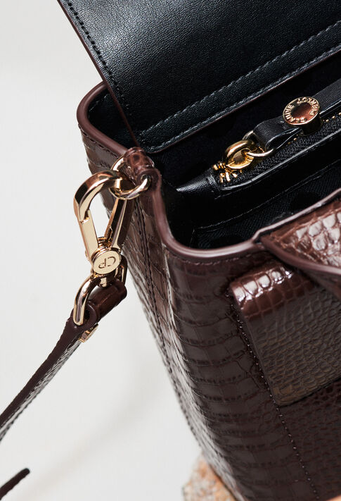 ANOUCKSMALLREPTILECROCOH19 : Bags & Leather Goods color CHOCOLAT