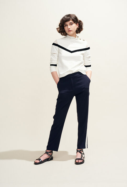 TAMI : Maille & Sweatshirts couleur Ecru