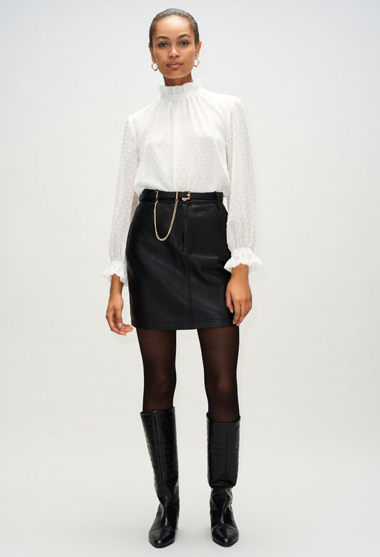 CLEYAH19 : Skirts & Shorts color BLACK