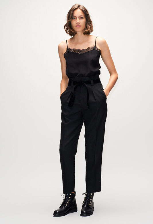 PAULETTAH19 : Jeans & Pants color BLACK