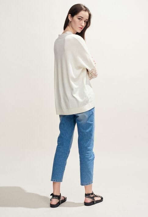 MANIA : Maille & Sweatshirts couleur Ecru