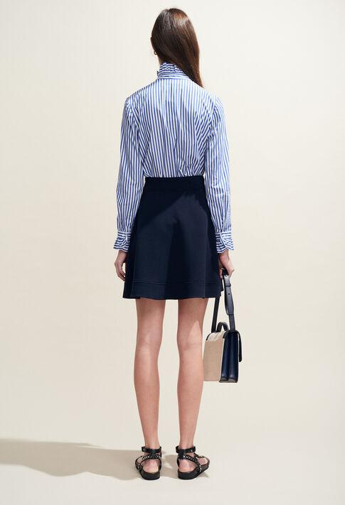 COLOMBE RAYEE : Tops & chemises couleur Indigo