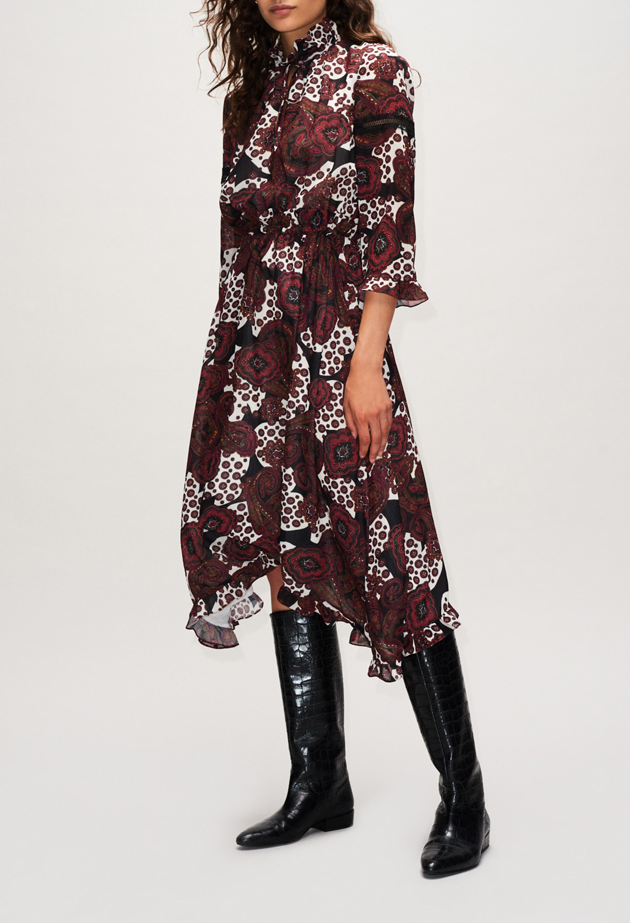 Long printed maxi dress
