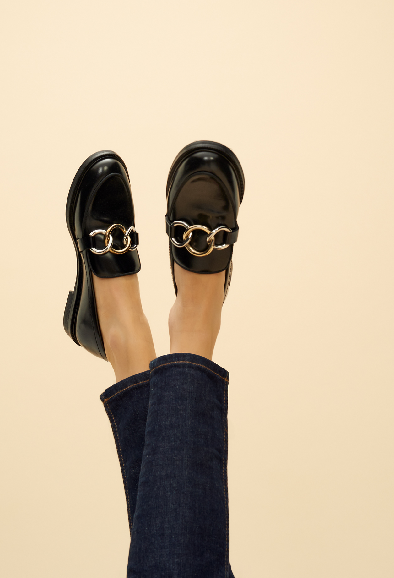 Loafers with buckles